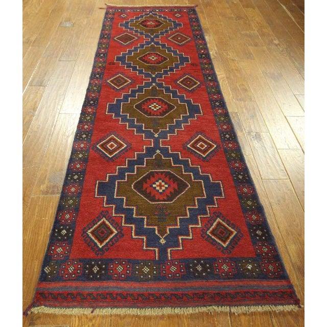 "Persian Tribal Baluch Runner Rug - 2'6"" x 9' - Image 3 of 7"