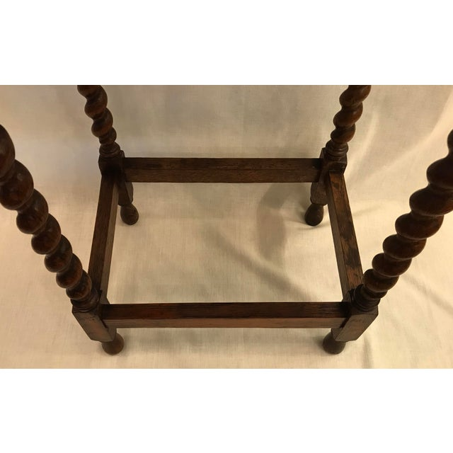 Early 20th Century Antique English Oak Side Table For Sale In Dallas - Image 6 of 10