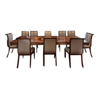 Traditional Dining Room Set - 11 Pieces For Sale