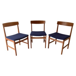 Danish Modern Ulferts Teak Chairs - Set of 3 For Sale