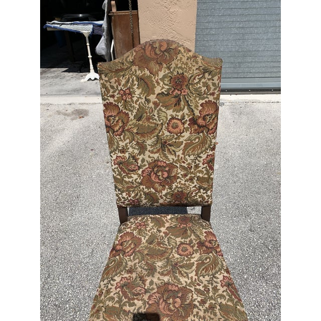 1900s Vintage French Louis XIII Style Os De Mouton Dining Chair For Sale - Image 10 of 13