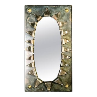 Paul Evans Style Brutalist Eye Form Mirror For Sale