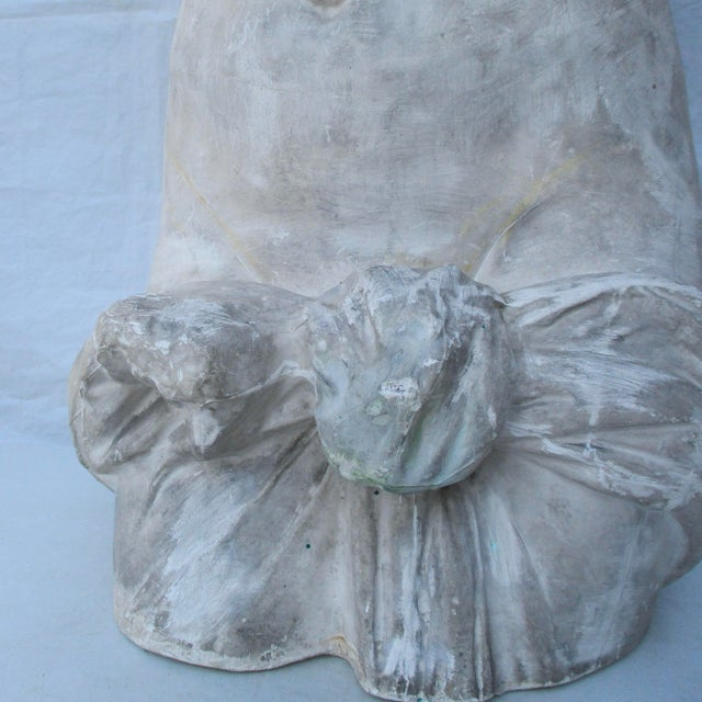 Neoclassical Antique Plaster Cast of Greek Goddess Torso For Sale - Image 3 of 11