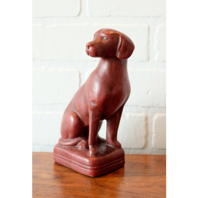 Vintage Red Dog Bookends - a Pair For Sale In Los Angeles - Image 6 of 9