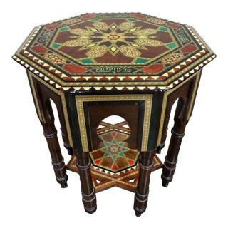 Early 20th Century Spanish Taracea Inlaid Table For Sale