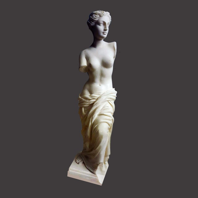 This bonded alabaster sculpture was originally designed for use as a drawing cast but also can serve full time as the...