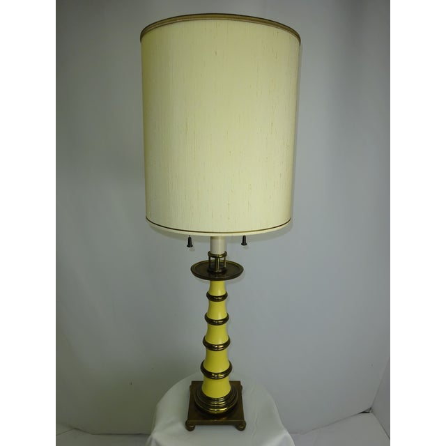 Faux Bamboo Enamel Table Lamp c1960 - Image 2 of 9