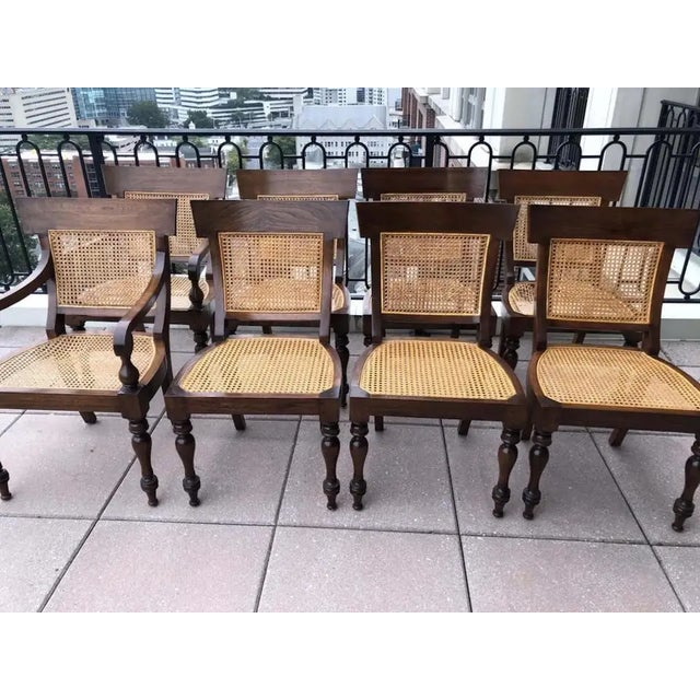 Set of Eight Anglo-Indian Rosewood Regency Dining Chairs For Sale - Image 4 of 8