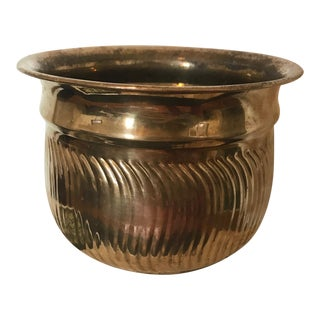 Vintage Solid Brass Planter Pot