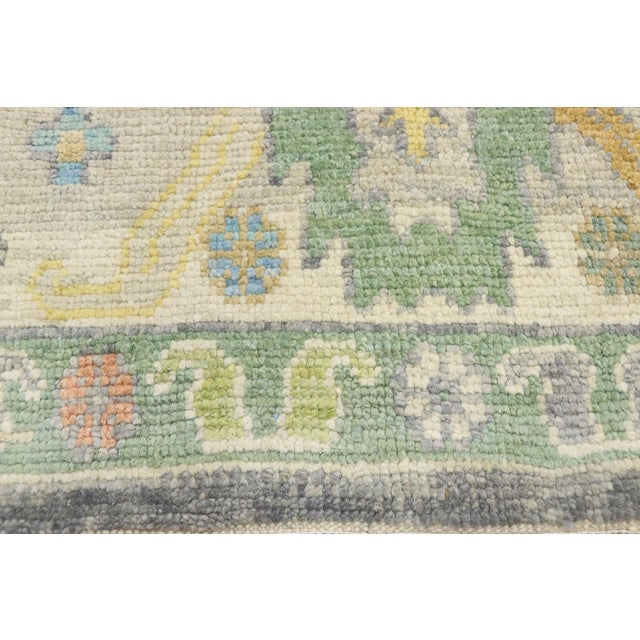 Contemporary Turkish Oushak Rug - 09'09 X 13'07 For Sale - Image 4 of 10