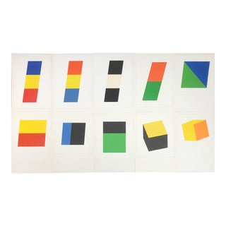 1970 Ellsworth Kelly Sample Portfolio Lithograph Prints by Gemini For Sale