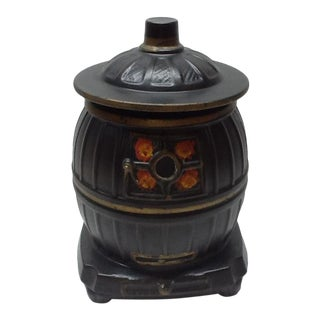 Vintage McCoy Usa Mid-Century Potbelly Stove Cookie Jar For Sale