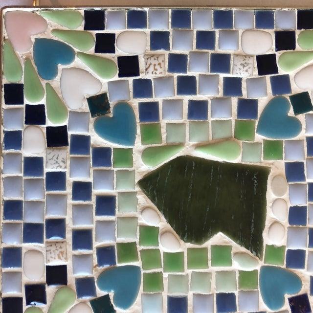 Vintage Blue & Green Mosaic Trivet For Sale - Image 4 of 8