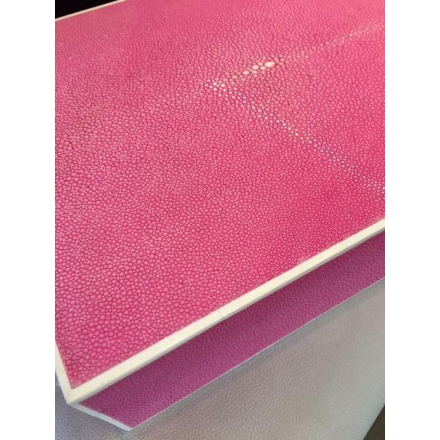 Hot Pink Shagreen Box - Image 5 of 5