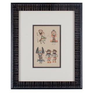 Hopi Kachina Chromolithograph, C.1903 For Sale