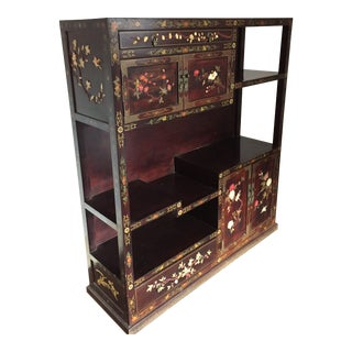 20th Century Polychrome Inlaid Chinese Scholar's Cabinet For Sale