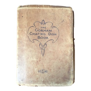1905 Antique Leather Cookbook For Sale