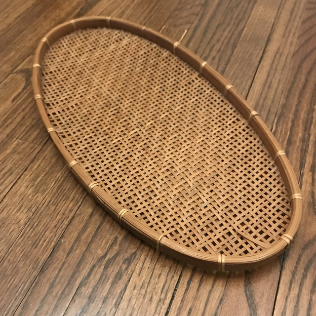 Americana Woven Winnowing Tray For Sale - Image 3 of 5