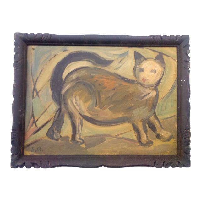 Portrait of Walking Feline Oil Painting For Sale
