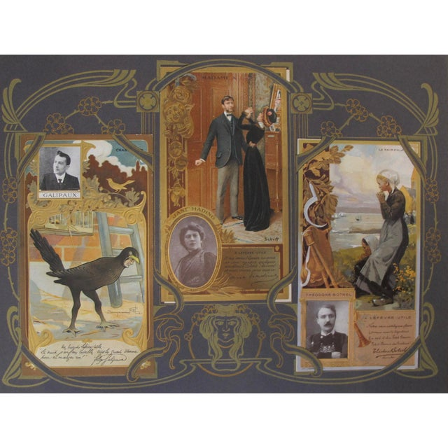 Complete Album Vintage French Biscuits Lu Postcards, 1905 - Image 3 of 5