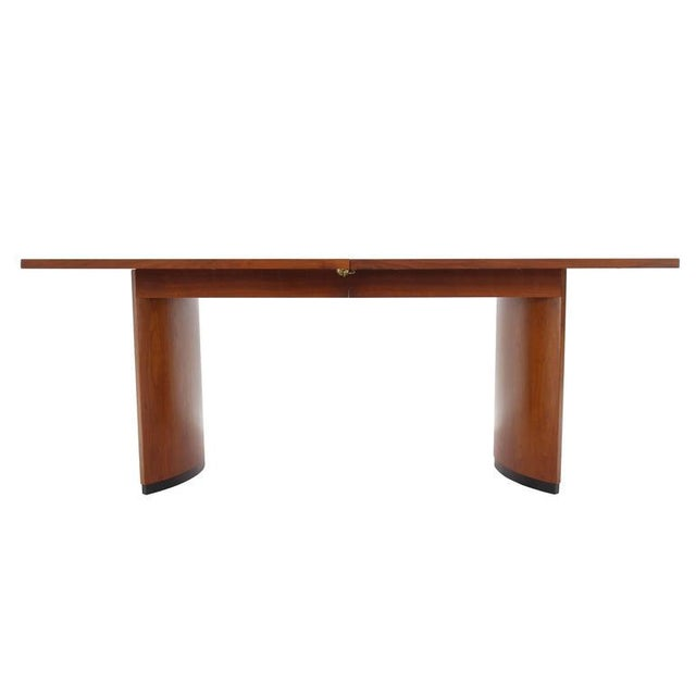 a98c7d10e7ab Early 20th Century Very Nice Mid-Century Modern Walnut Dining Table with Two  Extension Leaves