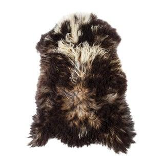 "Contemporary Long Soft Wool Sheepskin Pelt - 2'3""x3'7"" For Sale"