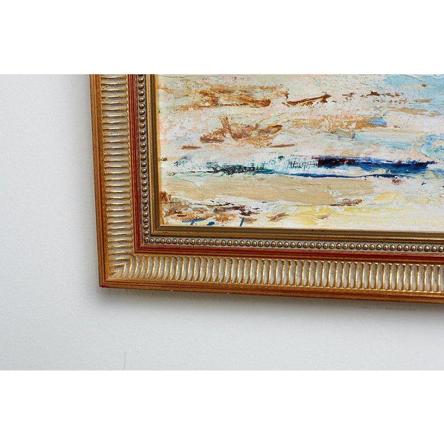 Mid Century T. Scola Coastal Painting Oil on Board For Sale In San Francisco - Image 6 of 13