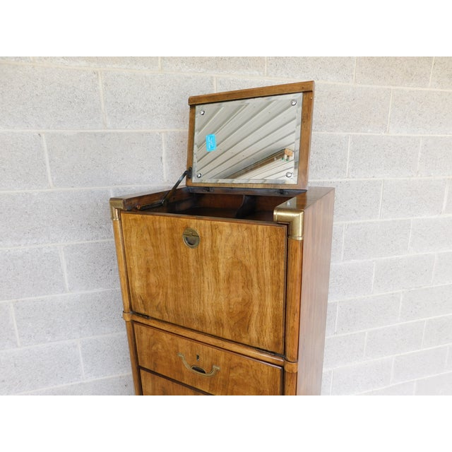 Drexel Accolade Campaign Style 6 Drawer Lingerie Chest 905-400 For Sale In Philadelphia - Image 6 of 13