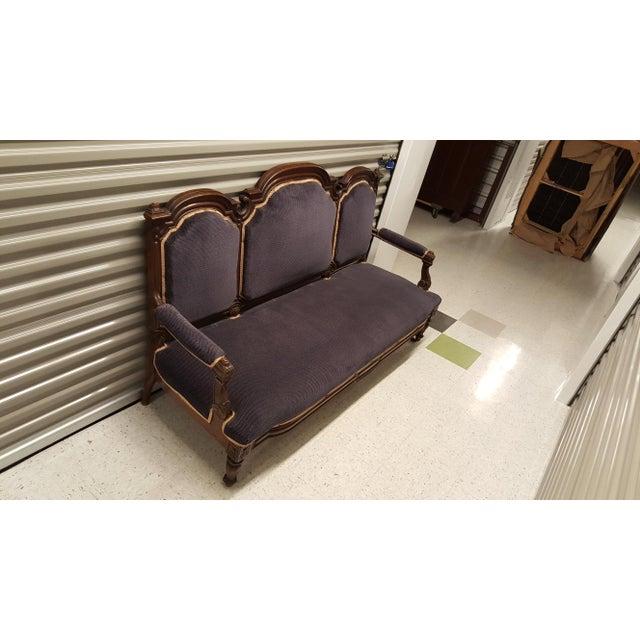 Antique Eastlake Design Settee - Image 2 of 8