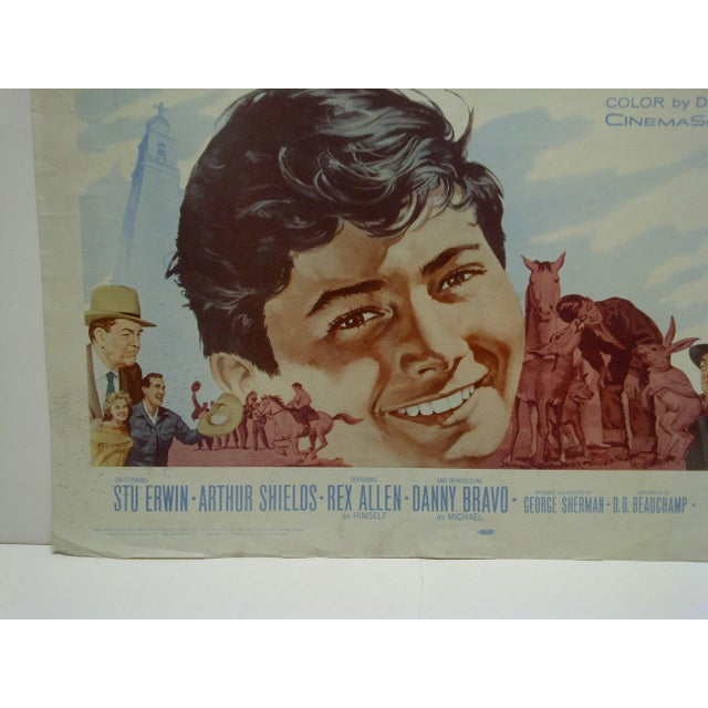"""1960s Vintage Movie Poster """"For the Love of Mike"""" by Richard Basehart For Sale - Image 4 of 5"""