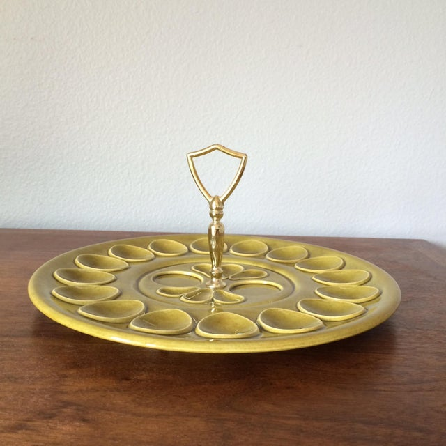 Mid-Century Pale Green Egg Dish - Image 2 of 9