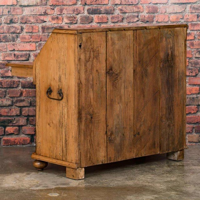 Mid 19th Century 19th Century Country Pine Breakfront Bureau / Desk For Sale - Image 5 of 7