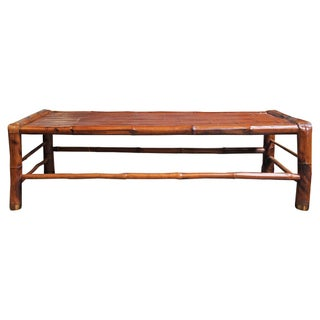 Vintage Bamboo Coffee Table For Sale