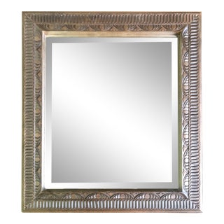 Victorian Carved Wooden Beveled Glass Mirror For Sale