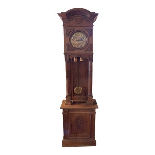 19th Century Gustav Becker Grandfather Clock For Sale