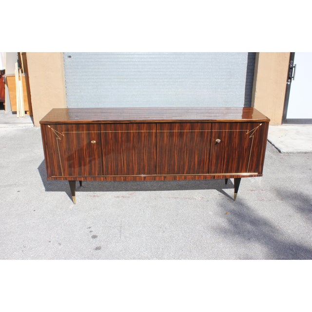 1940s French Art Deco Macassar Ebony Sideboard/Buffet For Sale - Image 12 of 13
