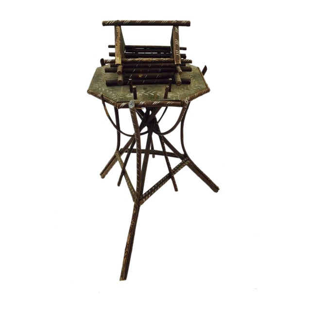 Folk Art Twig Game Table - Image 1 of 7