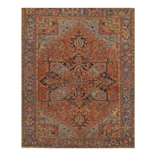 Pasargad Antique Persian Heriz Hand-Knotted Rug - 7′ × 9′ For Sale
