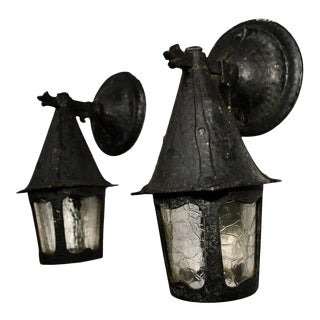 1920s Aluminum Outdoor Sconces - a Pair For Sale