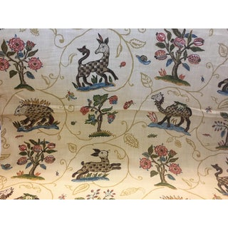 Folk Art F. Schumacher La Menagerie Fabric - 54ʺw × 252ʺh For Sale