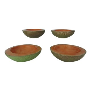 Vintage Cantaloupe Serving Bowls - Set of 4