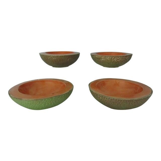 Vintage Cantaloupe Serving Bowls - Set of 4 For Sale