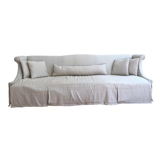 Custom Designed Linen Sofa For Sale