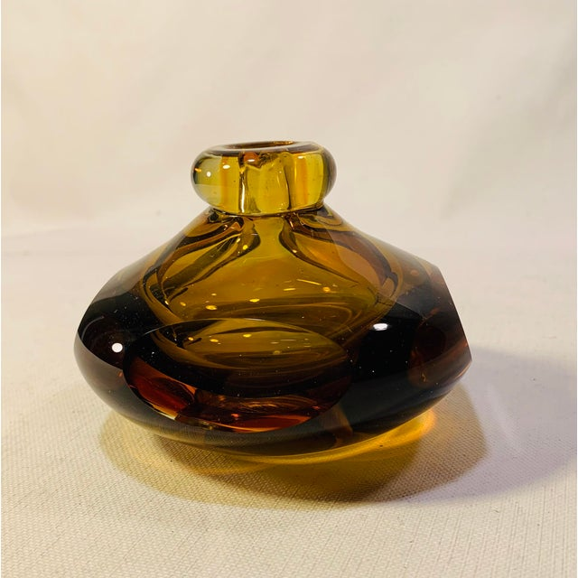 Mid-Century Modern Mid Century Modern Handblown Murano Paperweight Vase For Sale - Image 3 of 6
