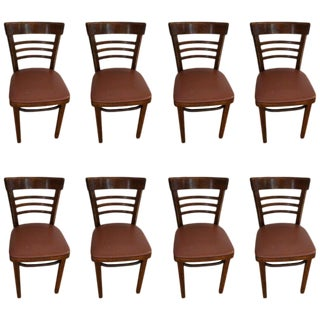 Thonet Cafe Bistro Restaurant Chairs, Set of Eight