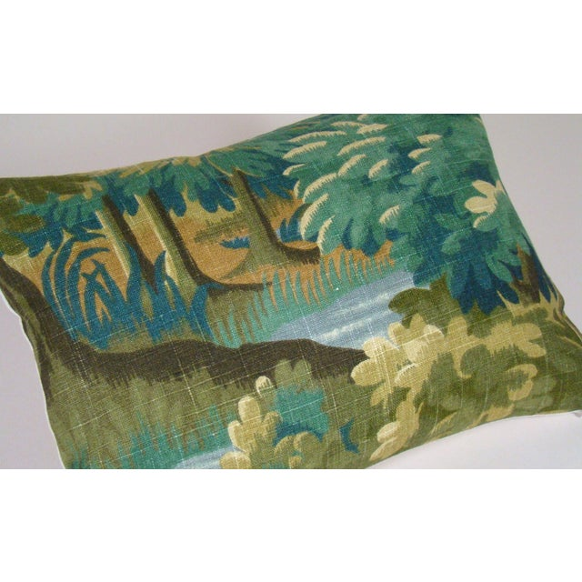 Verdure Print Linen Lumbar Pillow Cover For Sale - Image 4 of 9