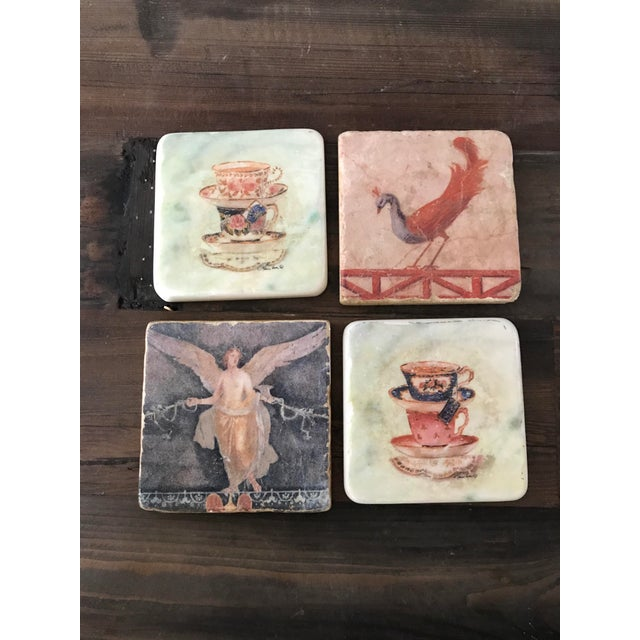 Pictorial Ceramic Coasters - Set of 4 - Image 2 of 6