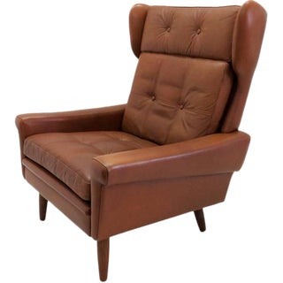 1960s Vintage Svend Skipper Wingback Lounge Chair For Sale