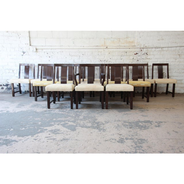 Asian Edward Wormley for Dunbar Mid-Century Modern Dining Chairs, Set of 16 For Sale - Image 3 of 13
