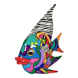 Marcie Ziv Postmodern Angel Fish Sculpture
